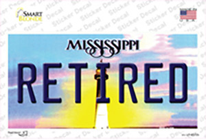 Retired Mississippi Wholesale Novelty Sticker Decal