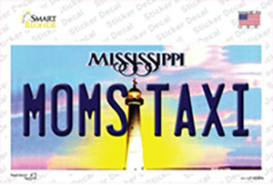 Moms Taxi Mississippi Wholesale Novelty Sticker Decal