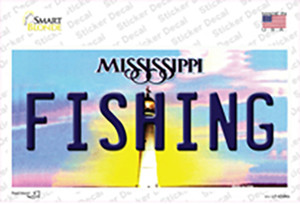 Fishing Mississippi Wholesale Novelty Sticker Decal