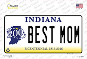 Best Mom Indiana Wholesale Novelty Sticker Decal