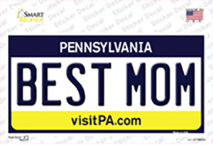 Best Mom Pennsylvania State Wholesale Novelty Sticker Decal
