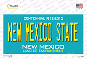 New Mexico State Background Wholesale Novelty Sticker Decal