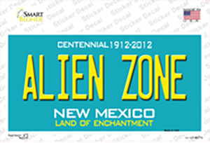 Alien Zone New Mexico State Wholesale Novelty Sticker Decal