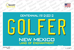 Golfer New Mexico Wholesale Novelty Sticker Decal