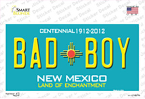 Bad Boy New Mexico Wholesale Novelty Sticker Decal