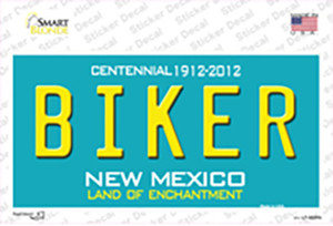 Biker New Mexico Wholesale Novelty Sticker Decal