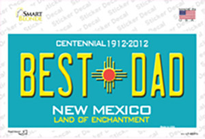 Best Dad New Mexico Wholesale Novelty Sticker Decal