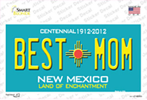 Best Mom Teal New Mexico Wholesale Novelty Sticker Decal