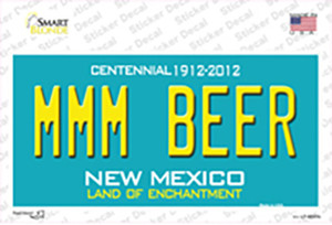 MMM Beer New Mexico Wholesale Novelty Sticker Decal