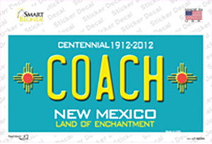 Coach New Mexico Wholesale Novelty Sticker Decal