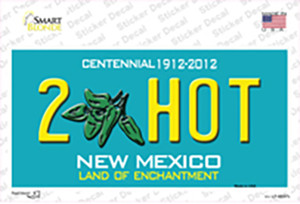 2 Hot Green New Mexico Wholesale Novelty Sticker Decal