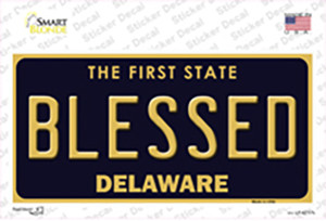Blessed Delaware Wholesale Novelty Sticker Decal