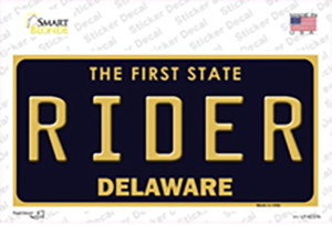 Rider Delaware Wholesale Novelty Sticker Decal