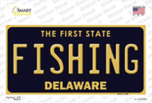 Fishing Delaware Wholesale Novelty Sticker Decal