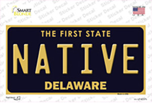 Native Delaware Wholesale Novelty Sticker Decal