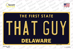 That Guy Delaware Wholesale Novelty Sticker Decal