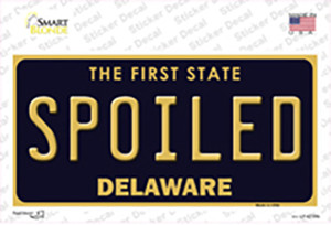 Spoiled Delaware Wholesale Novelty Sticker Decal