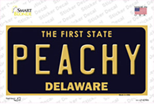 Peachy Delaware Wholesale Novelty Sticker Decal