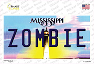 Zombie Mississippi Wholesale Novelty Sticker Decal