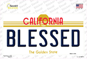 Blessed California Wholesale Novelty Sticker Decal