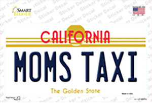 Moms Taxi California Wholesale Novelty Sticker Decal