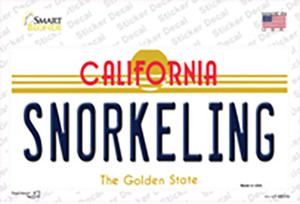 Snorkeling California Wholesale Novelty Sticker Decal