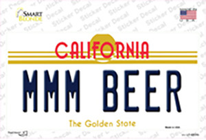 MMM Beer California Wholesale Novelty Sticker Decal