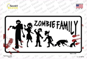 Zombie Family White Wholesale Novelty Sticker Decal