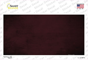 Burgundy Oil Rubbed Solid Wholesale Novelty Sticker Decal