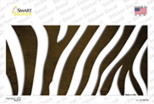 Brown White Zebra Oil Rubbed Wholesale Novelty Sticker Decal