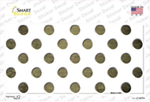 Gold White Dots Oil Rubbed Wholesale Novelty Sticker Decal