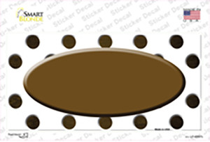 Brown White Dots Oval Oil Rubbed Wholesale Novelty Sticker Decal