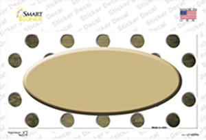 Gold White Dots Oval Oil Rubbed Wholesale Novelty Sticker Decal