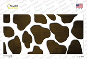 Brown White Giraffe Oil Rubbed Wholesale Novelty Sticker Decal