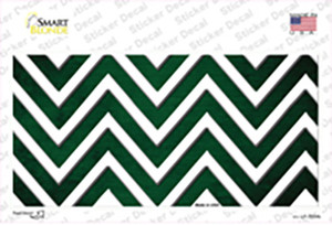 Green White Chevron Oil Rubbed Wholesale Novelty Sticker Decal