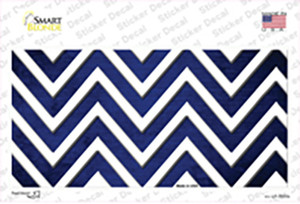 Blue White Chevron Oil Rubbed Wholesale Novelty Sticker Decal