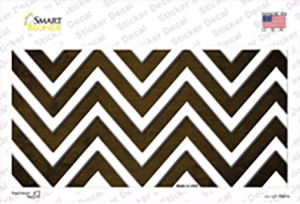 Brown White Chevron Oil Rubbed Wholesale Novelty Sticker Decal