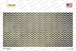 Gold White Small Chevron Oil Rubbed Wholesale Novelty Sticker Decal
