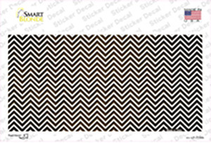 Brown White Small Chevron Oil Rubbed Wholesale Novelty Sticker Decal