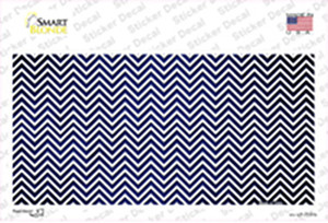 Blue White Small Chevron Oil Rubbed Wholesale Novelty Sticker Decal