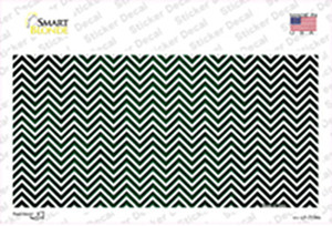 Green White Small Chevron Oil Rubbed Wholesale Novelty Sticker Decal