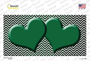 Green White Small Chevron Hearts Oil Rubbed Wholesale Novelty Sticker Decal