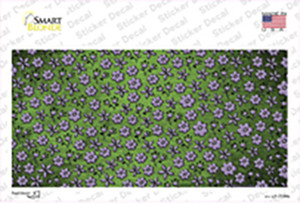 Lime Green Purple Flowers Oil Rubbed Wholesale Novelty Sticker Decal