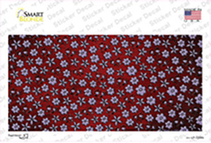Red Purple Flowers Oil Rubbed Wholesale Novelty Sticker Decal