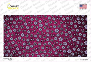 Pink Purple Flowers Oil Rubbed Wholesale Novelty Sticker Decal