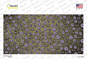 Gold Purple Flowers Oil Rubbed Wholesale Novelty Sticker Decal