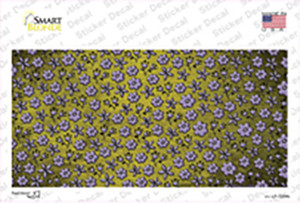 Yellow Purple Flowers Oil Rubbed Wholesale Novelty Sticker Decal
