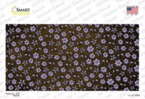 Brown Purple Flowers Oil Rubbed Wholesale Novelty Sticker Decal