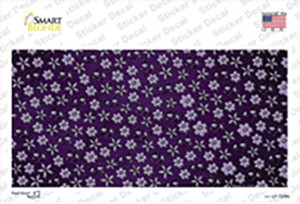 Purple  Flowers Oil Rubbed Wholesale Novelty Sticker Decal