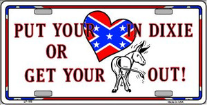 Heart In Dixie Wholesale Metal Novelty License Plate LP-158